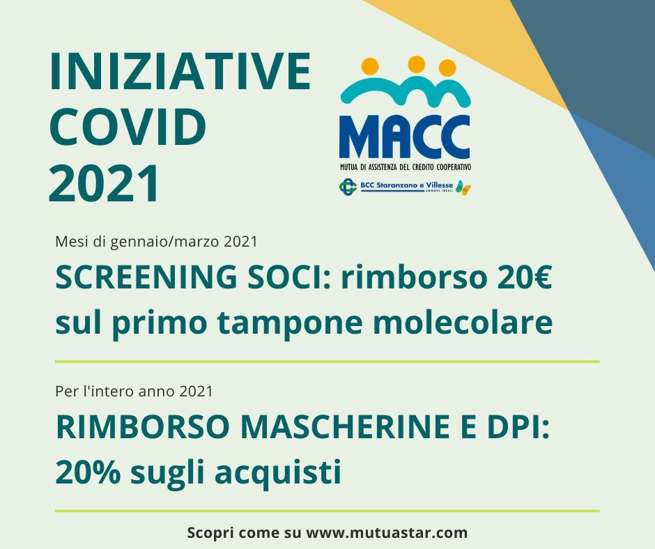2021: iniziative anti-COVID19 per i soci