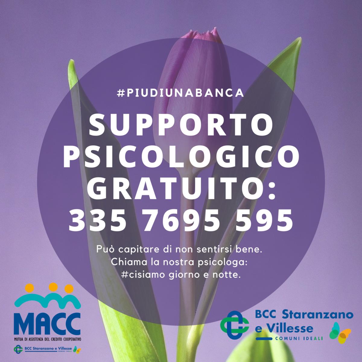 335 7695595: servizio psicologico gratuito per i soci MACC e BCC!